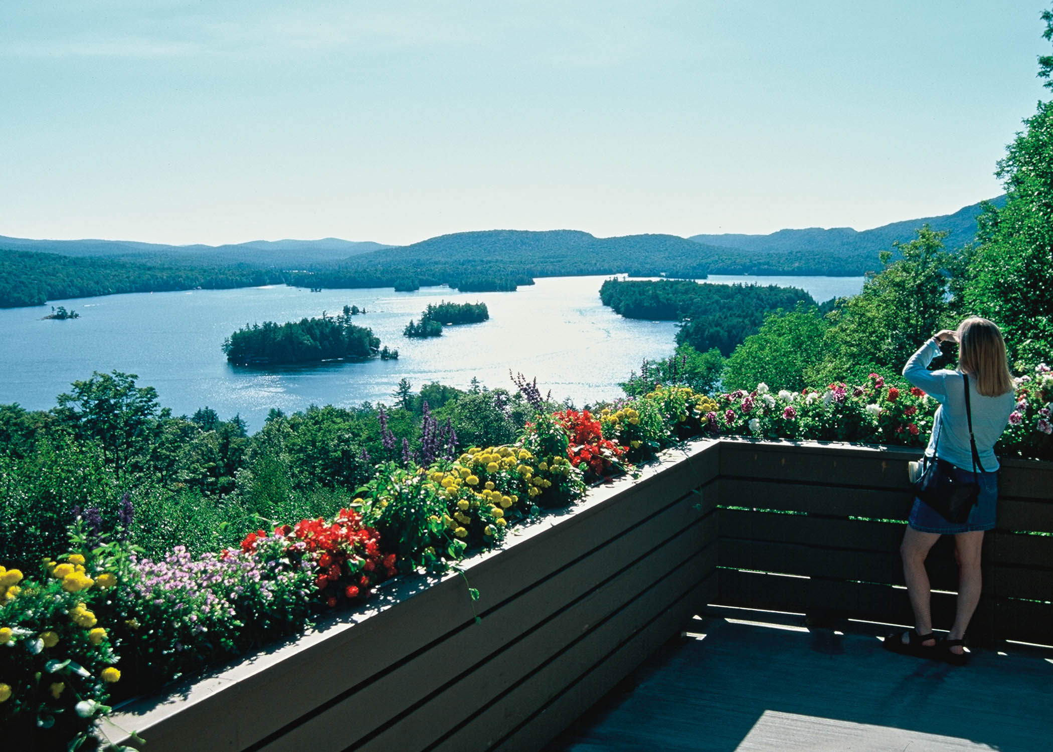 One of America's Best Views:  Looking Out Onto Blue Mountain Lake