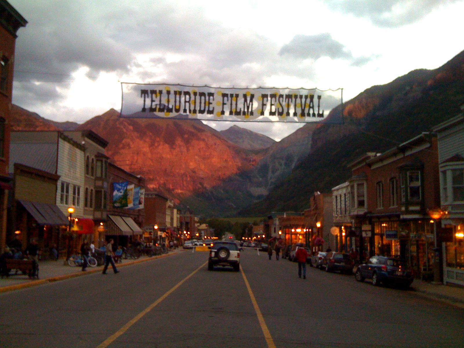 Alpenglow Over Telluride During Filmfest