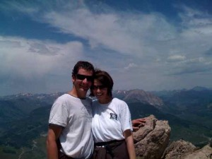 Steve and Me Feeling on Top of the World at the Summit of Mount Crested Butte